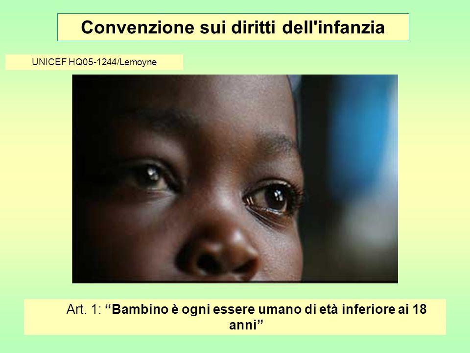 Convenzione sui diritti dell infanzia © UNICEF/HQ04-0735/Holmes Art.
