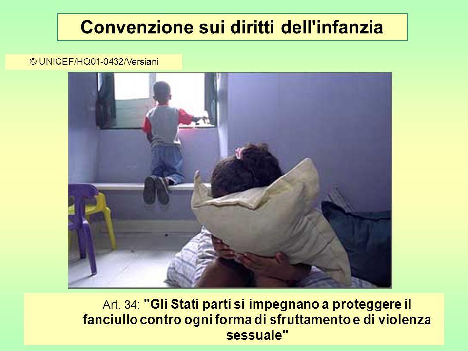 Convenzione sui diritti dell infanzia © UNICEF/HQ01-0432/Versiani Art.