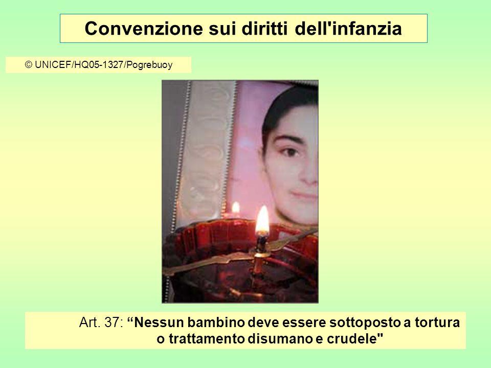 Convenzione sui diritti dell infanzia © UNICEF/HQ05-1327/Pogrebuoy Art.