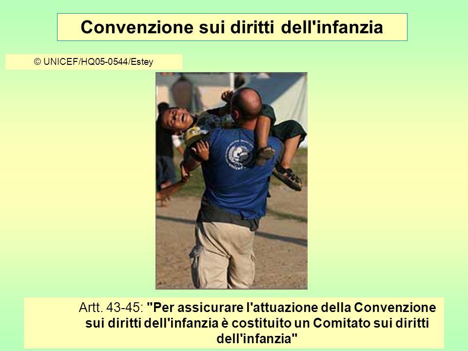 Convenzione sui diritti dell infanzia © UNICEF/HQ05-0544/Estey Artt.