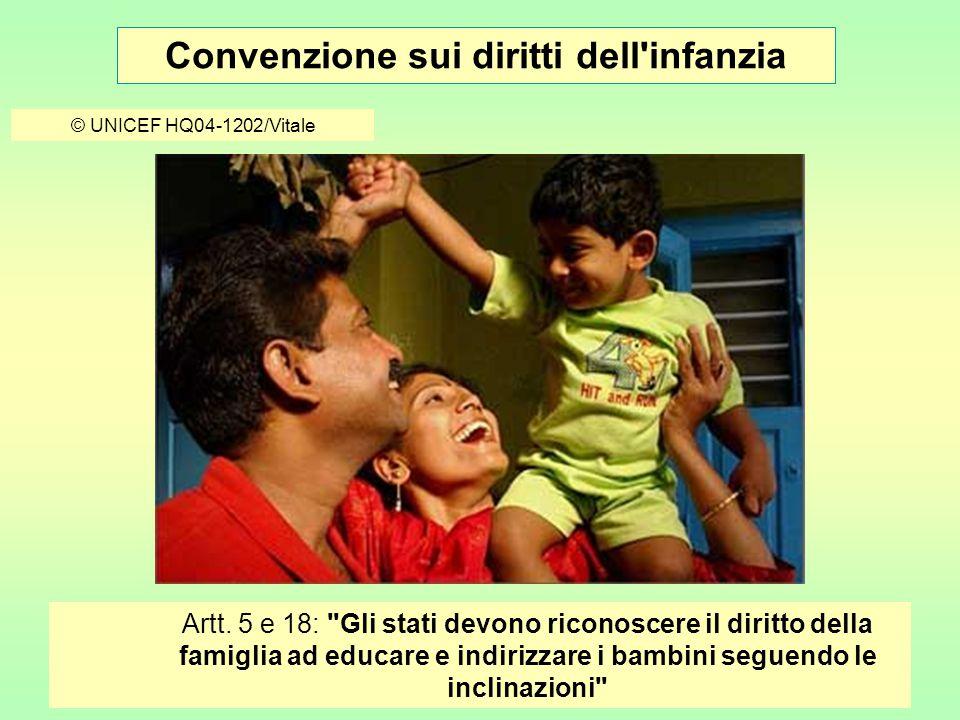 Convenzione sui diritti dell infanzia © UNICEF/HQ04-0038/Furrer Art.