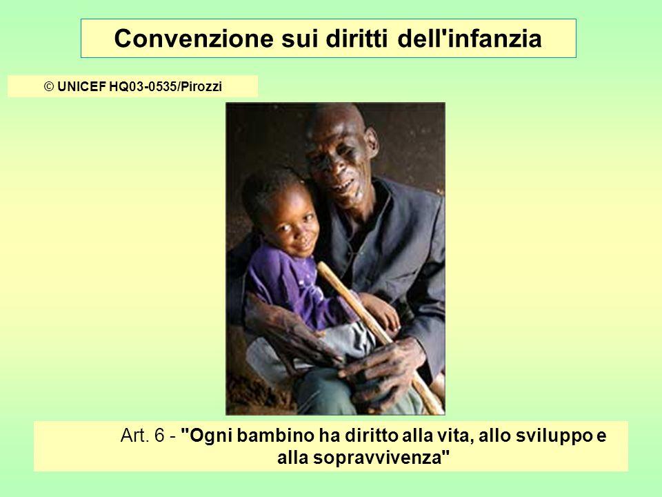 Convenzione sui diritti dell infanzia © UNICEF/HQ05-1158/LeMoyne Artt.