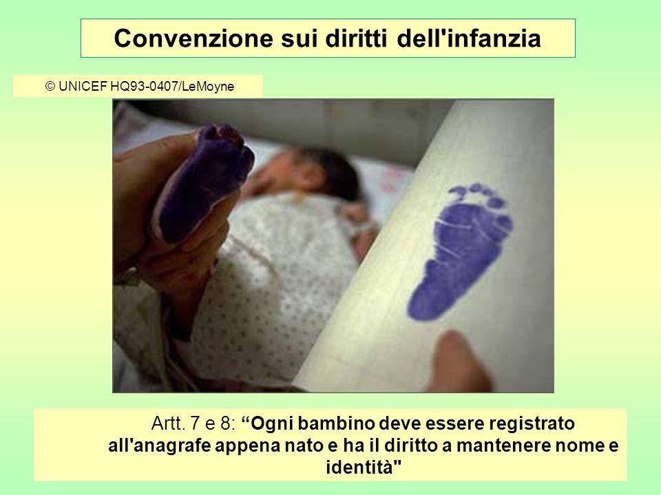 Convenzione sui diritti dell infanzia © UNICEF/HQ99-0849/LeMoyne Art.