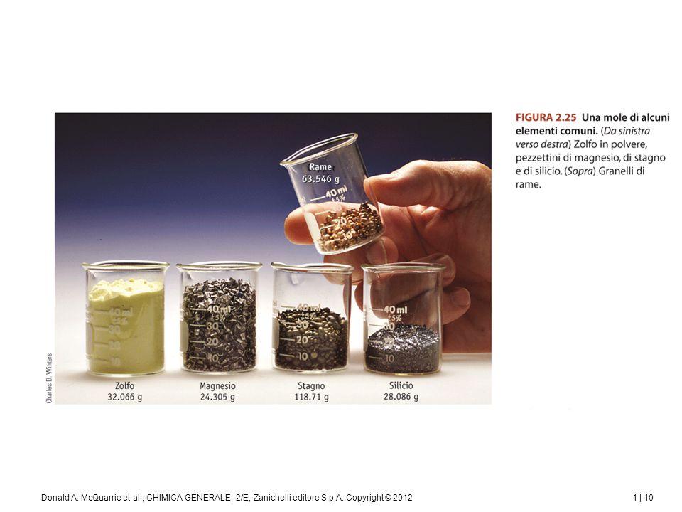 1 | 11Donald A. McQuarrie et al., CHIMICA GENERALE, 2/E, Zanichelli editore S.p.A. Copyright © 2012