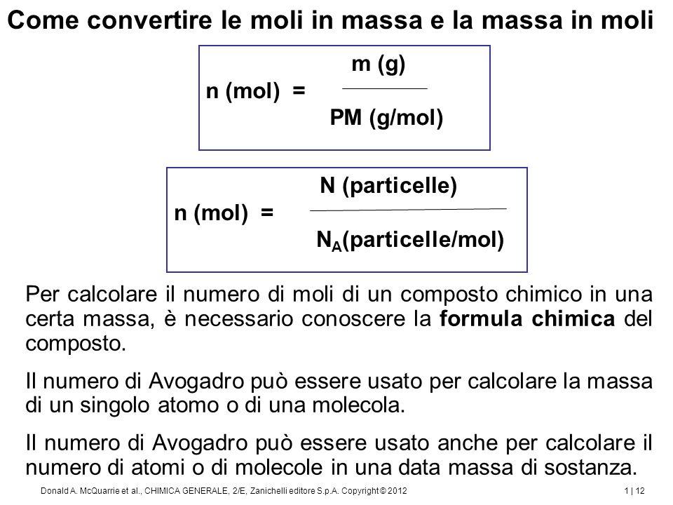 1 | 13Donald A.McQuarrie et al., CHIMICA GENERALE, 2/E, Zanichelli editore S.p.A.