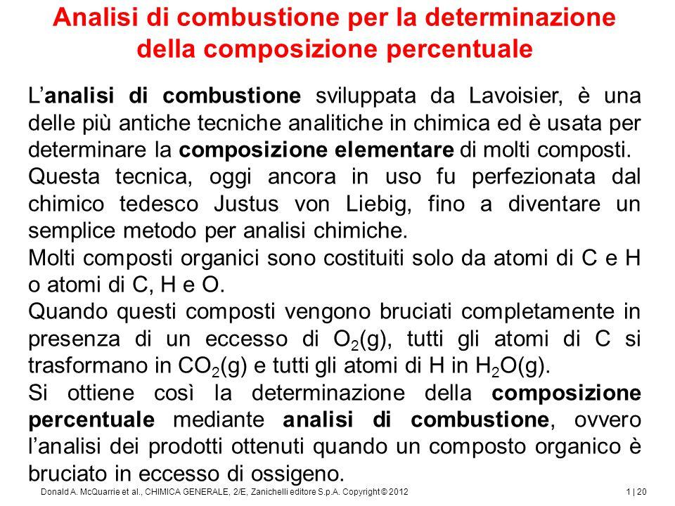 1 | 21Donald A.McQuarrie et al., CHIMICA GENERALE, 2/E, Zanichelli editore S.p.A.