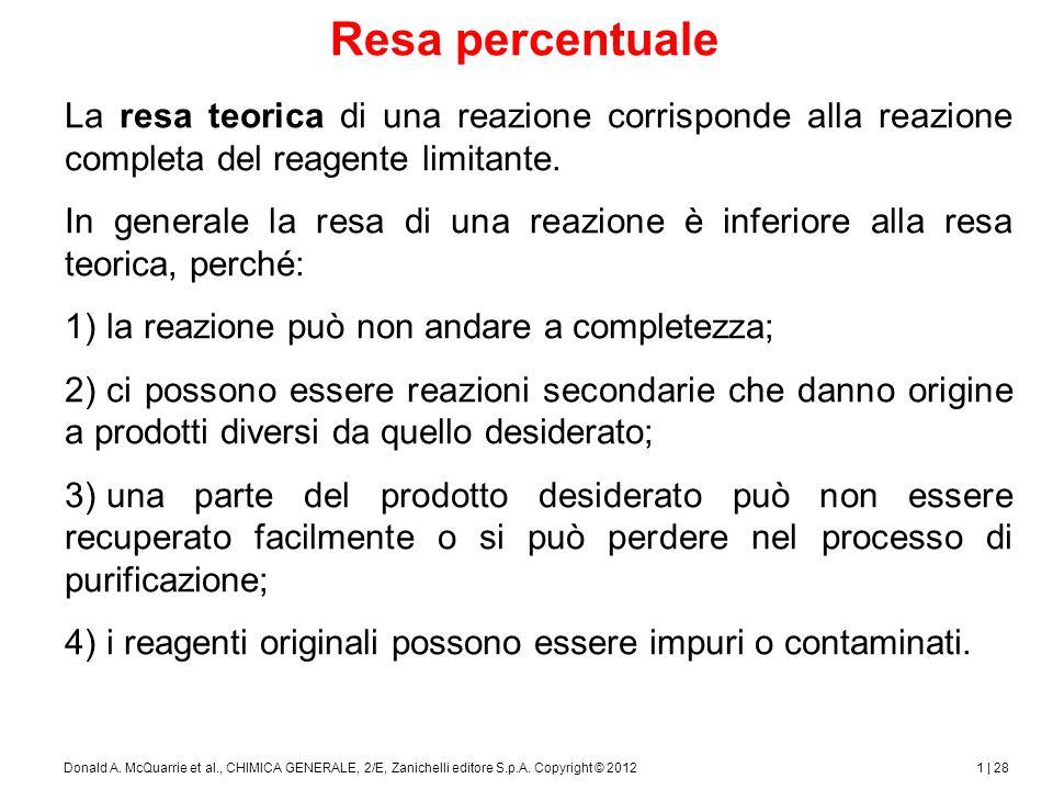 1 | 29Donald A.McQuarrie et al., CHIMICA GENERALE, 2/E, Zanichelli editore S.p.A.