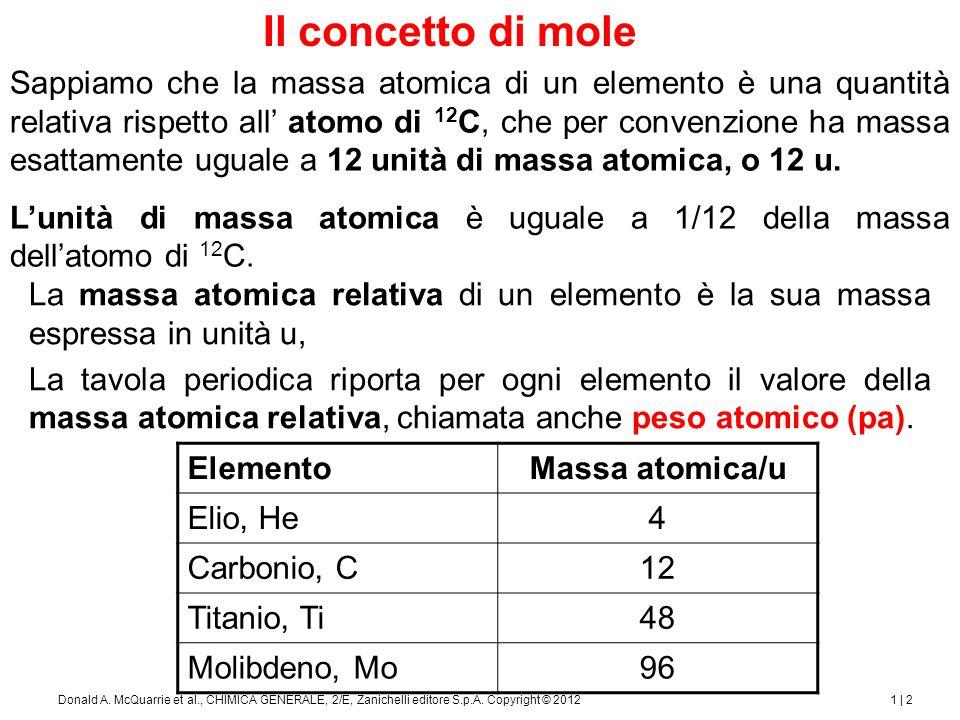 1 | 3Donald A.McQuarrie et al., CHIMICA GENERALE, 2/E, Zanichelli editore S.p.A.