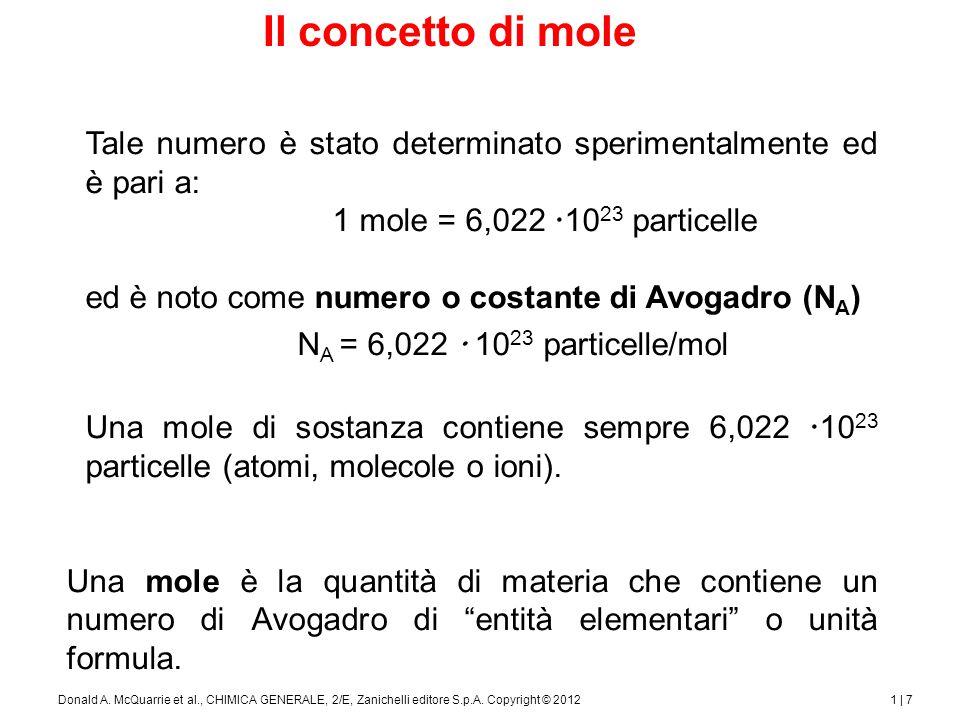 1 | 8Donald A.McQuarrie et al., CHIMICA GENERALE, 2/E, Zanichelli editore S.p.A.