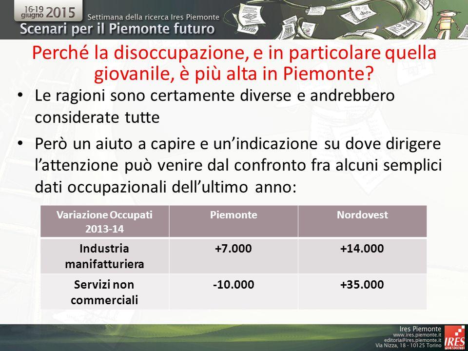 Perché la disoccupazione, e in particolare quella giovanile, è più alta in Piemonte? Le ragioni sono certamente diverse e andrebbero considerate tutte