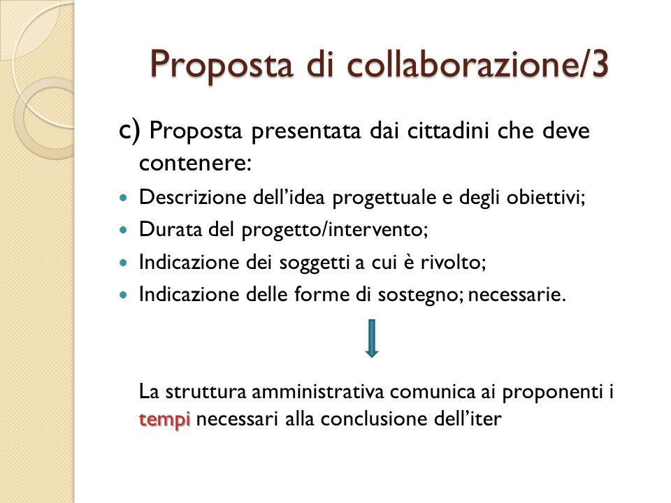 Co-progettazione I soggetti proponenti verranno invitati, da parte della struttura comunale a cui la proposta di collaborazione è stata assegnata, alla fase di co-progettazione attraverso la quale si provvederà a dettagliare il contenuto dell'intervento e tutto ciò che è necessario ai fini della sua realizzazione.