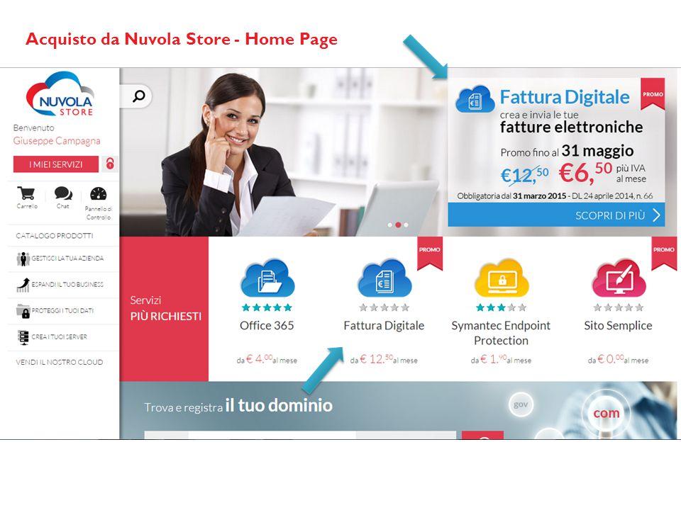 Acquisto da Nuvola Store - Home Page