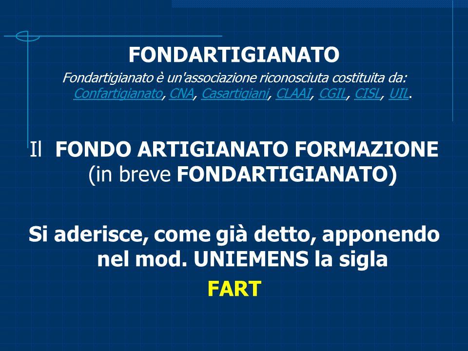 FONDARTIGIANATO Fondartigianato è un'associazione riconosciuta costituita da: Confartigianato, CNA, Casartigiani, CLAAI, CGIL, CISL, UIL. Confartigian