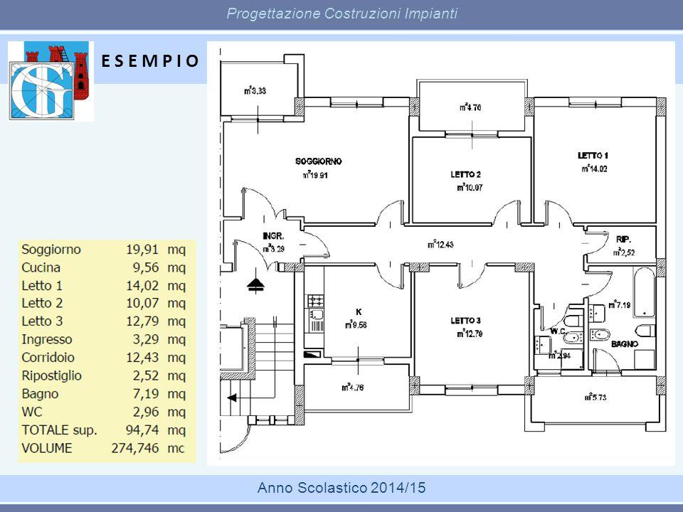 E S E M P I O Progettazione Costruzioni Impianti Anno Scolastico 2014/15