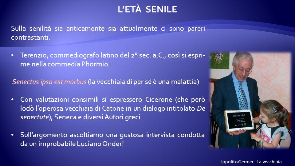 L'ETÀ SENILE Ippolito Germer - La vecchiaia