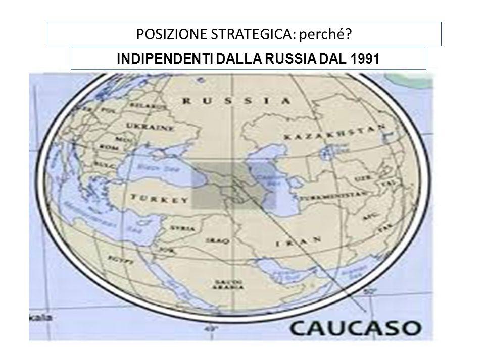 POSIZIONE STRATEGICA: perché? INDIPENDENTI DALLA RUSSIA DAL 1991