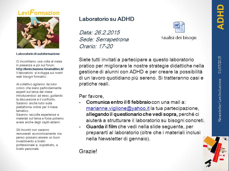Levi F ormazion e Laboratorio di autoformazione Ci incontriamo una volta al mese in presenza e poi sul forum: http://levinclusione.forumattivo.it/ Il