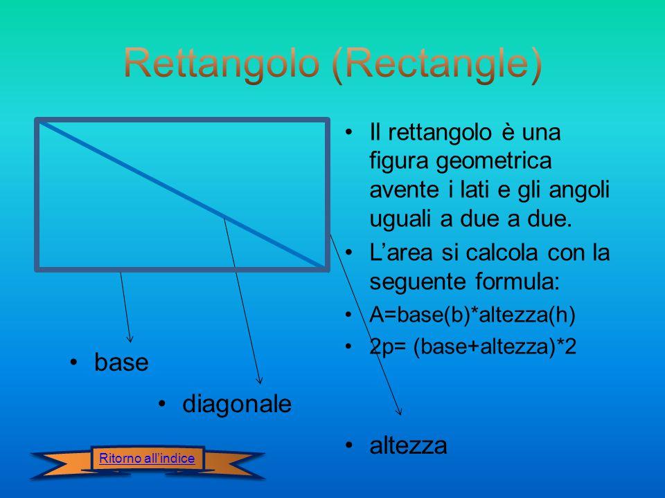 Il rettangolo è una figura geometrica avente i lati e gli angoli uguali a due a due.