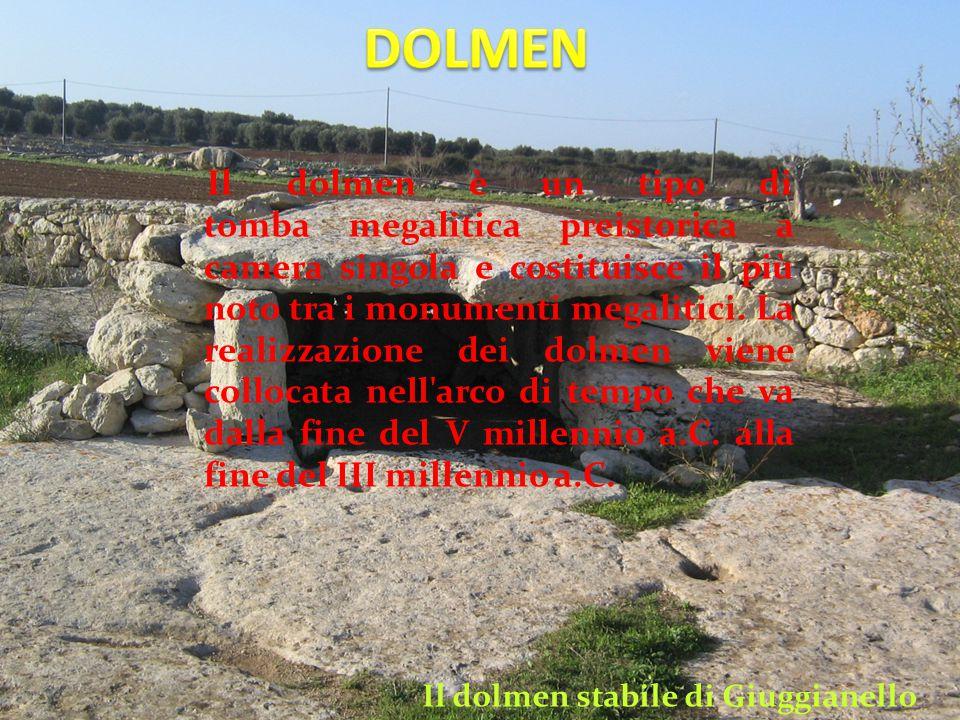 Il dolmen è un tipo di tomba megalitica preistorica a camera singola e costituisce il più noto tra i monumenti megalitici.