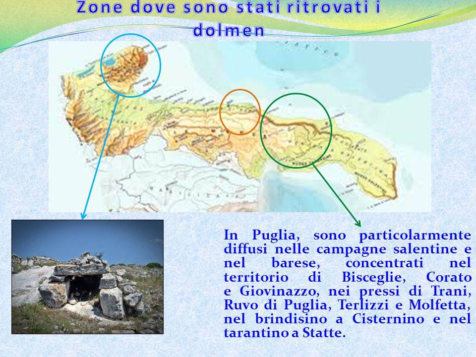 In Puglia, sono particolarmente diffusi nelle campagne salentine e nel barese, concentrati nel territorio di Bisceglie, Corato e Giovinazzo, nei pressi di Trani, Ruvo di Puglia, Terlizzi e Molfetta, nel brindisino a Cisternino e nel tarantino a Statte.