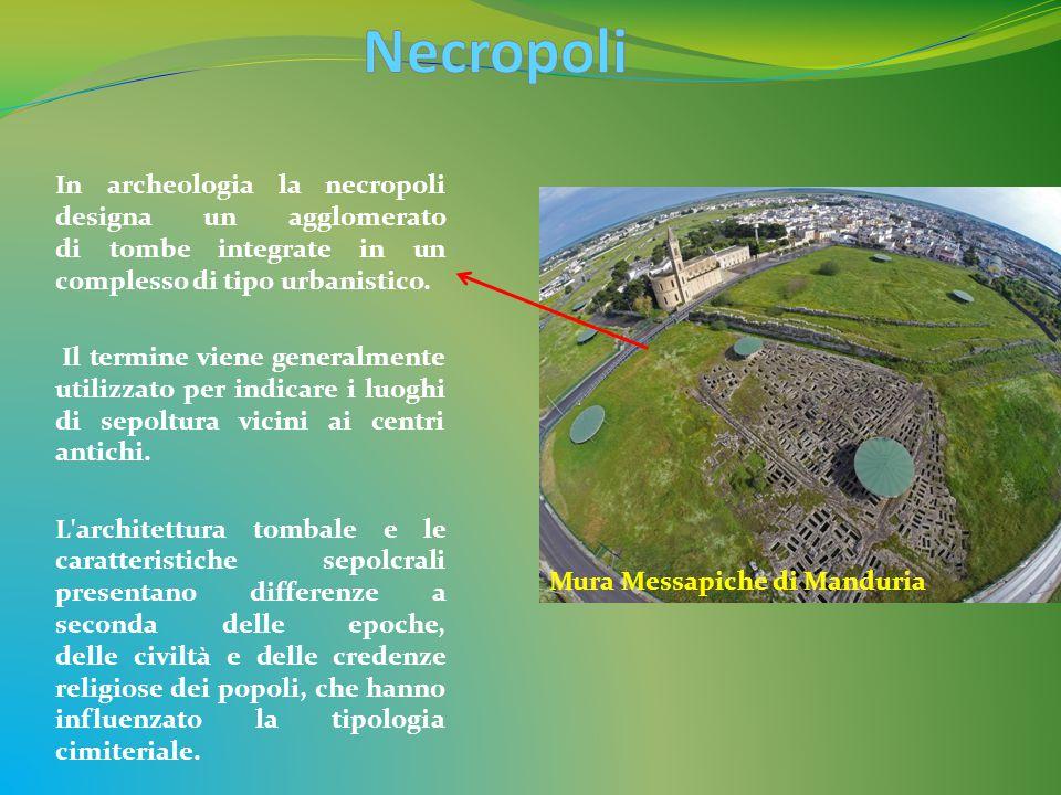 In archeologia la necropoli designa un agglomerato di tombe integrate in un complesso di tipo urbanistico.