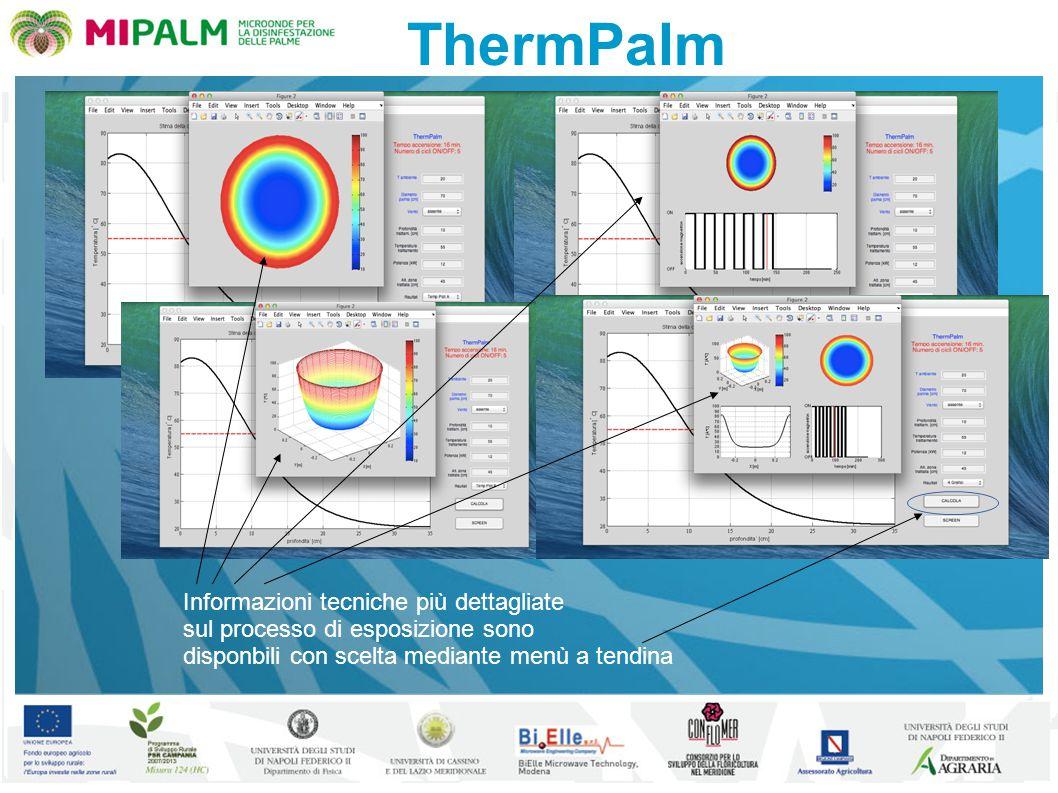 ThermPalm Informazioni tecniche più dettagliate sul processo di esposizione sono disponbili con scelta mediante menù a tendina