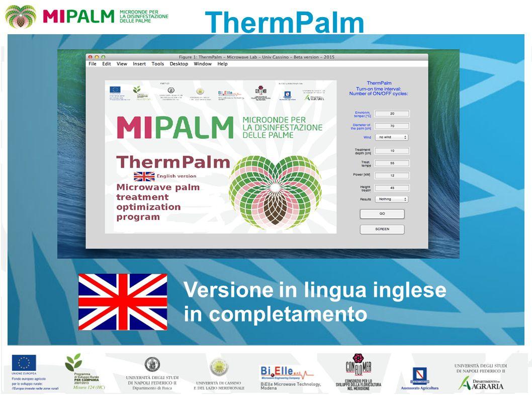 ThermPalm Versione in lingua inglese in completamento