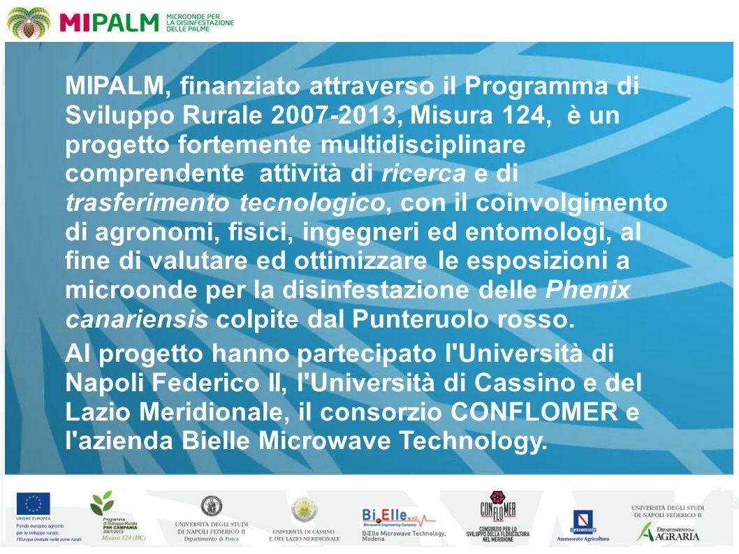 MIPALM, finanziato attraverso il Programma di Sviluppo Rurale 2007-2013, Misura 124, è un progetto fortemente multidisciplinare comprendente attività