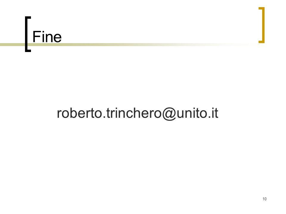 10 Fine roberto.trinchero@unito.it