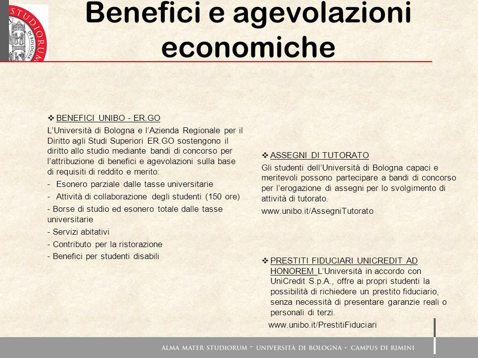  BENEFICI UNIBO - ER.GO L'Università di Bologna e l'Azienda Regionale per il Diritto agli Studi Superiori ER.GO sostengono il diritto allo studio med