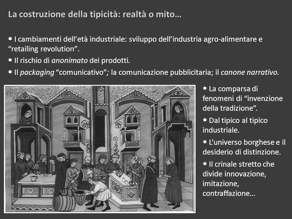 I cambiamenti dell'età industriale: sviluppo dell'industria agro-alimentare e retailing revolution .