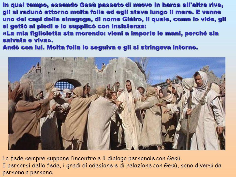In quel tempo, essendo Gesù passato di nuovo in barca all altra riva, gli si radunò attorno molta folla ed egli stava lungo il mare.