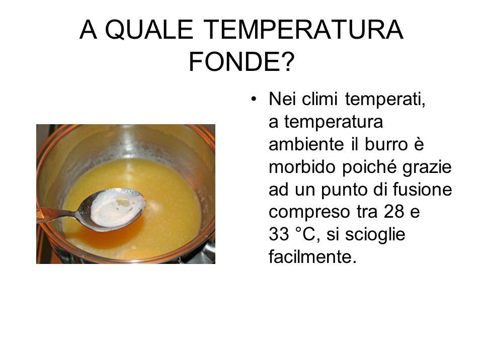 A QUALE TEMPERATURA FONDE.