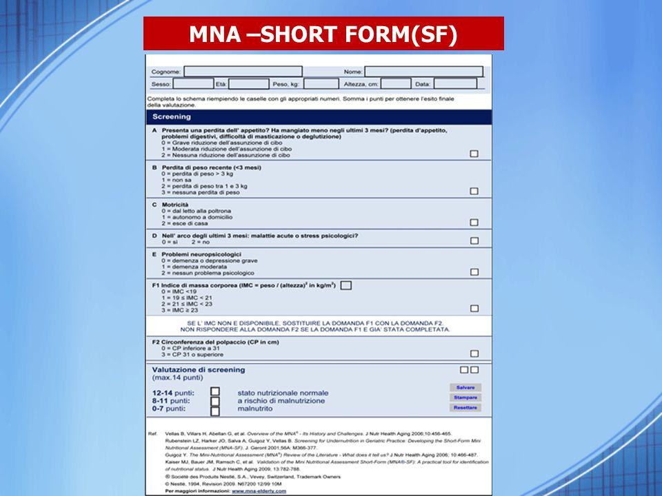 MNA –SHORT FORM(SF)