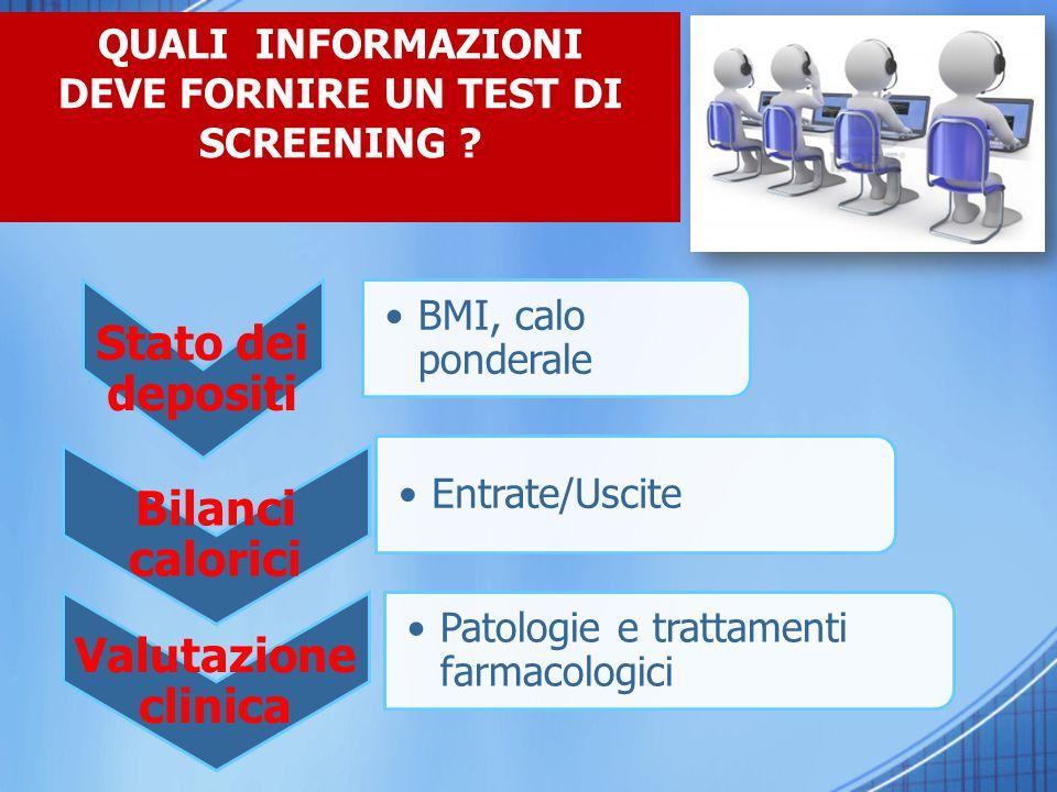 Chi può eseguire un test di screening.