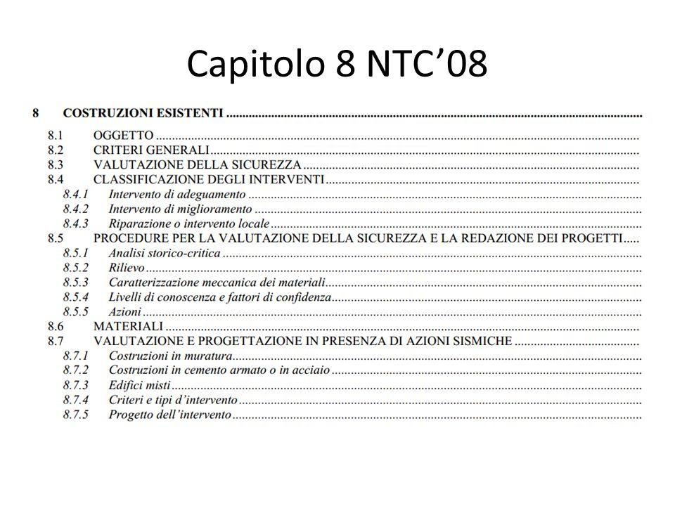Capitolo 8 NTC'08
