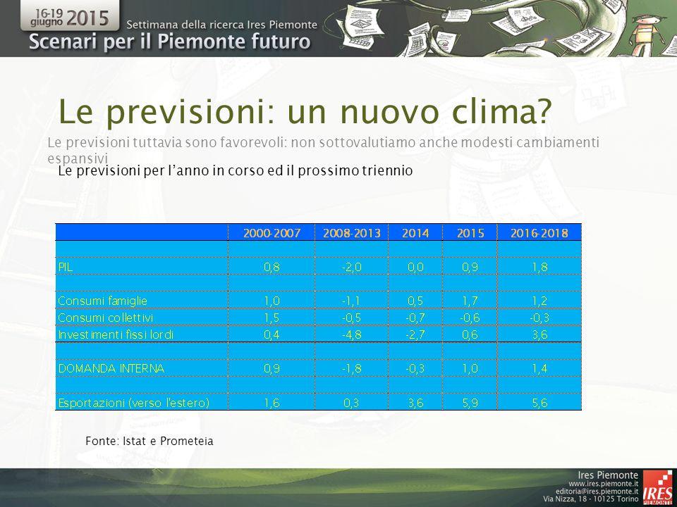 Le previsioni: un nuovo clima.