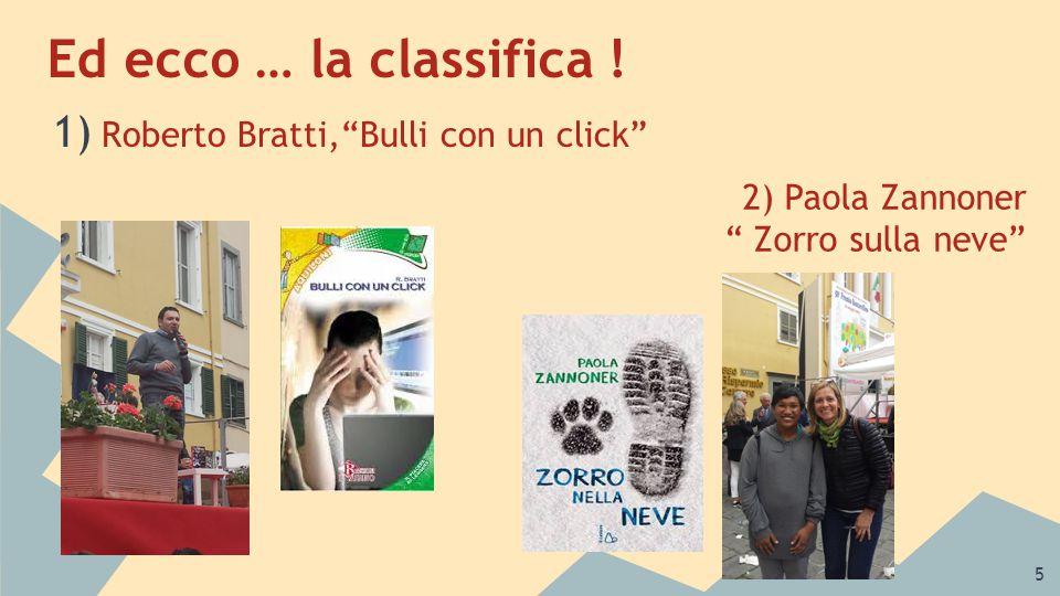 6 3) Fulvia Degl'Innocenti con La libraia 4)Silvia Vecchini con Le parole Giuste