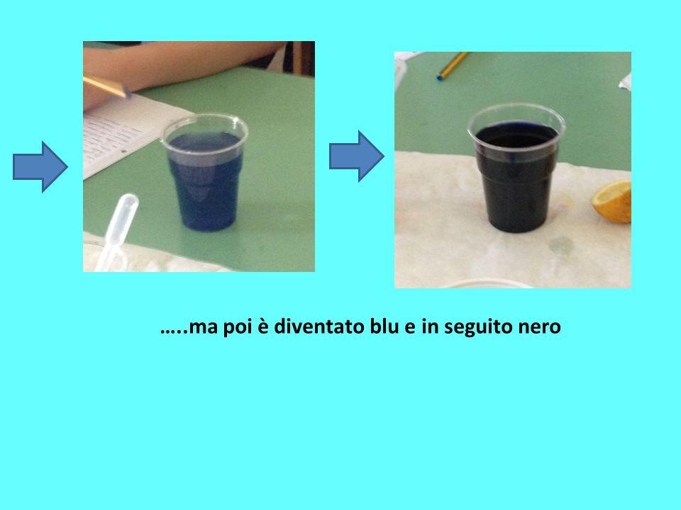 …..ma poi è diventato blu e in seguito nero