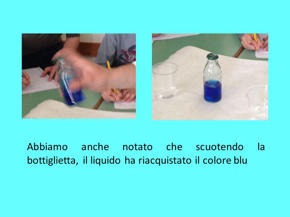 Il limone fa scolorare la tintura di iodio Abbiamo, in seguito, aggiunto nel bicchiere con la tintura di iodio, il limone, in questo modo, la soluzione è diventato incolore.