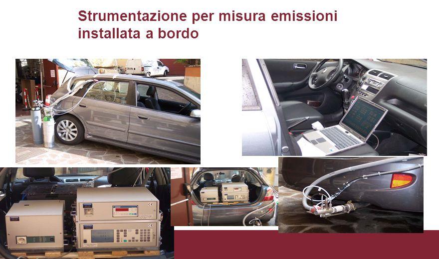 Strumentazione per misura emissioni installata a bordo