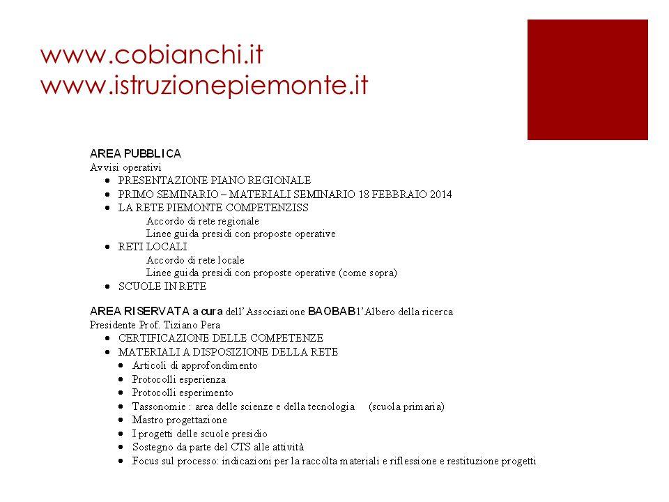 www.cobianchi.it www.istruzionepiemonte.it