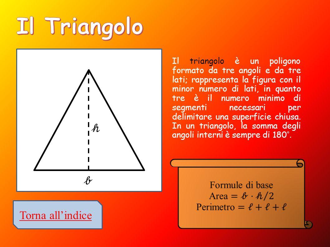 Il triangolo è un poligono formato da tre angoli e da tre lati; rappresenta la figura con il minor numero di lati, in quanto tre è il numero minimo di segmenti necessari per delimitare una superficie chiusa.