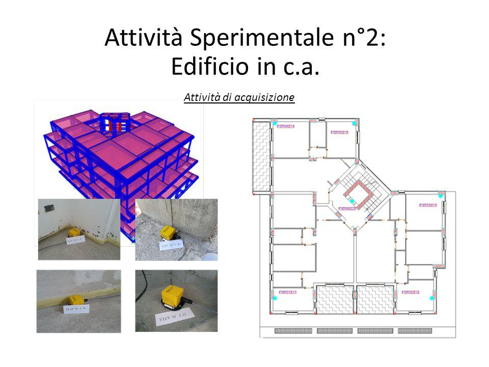 Attività Sperimentale n°2: Edificio in c.a. Attività di acquisizione