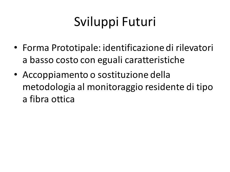 Sviluppi Futuri Forma Prototipale: identificazione di rilevatori a basso costo con eguali caratteristiche Accoppiamento o sostituzione della metodolog