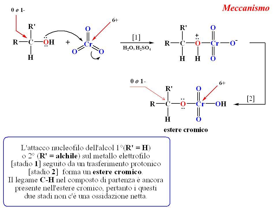 Meccanismo H 2 O, H 2 SO 4 0 o 1-