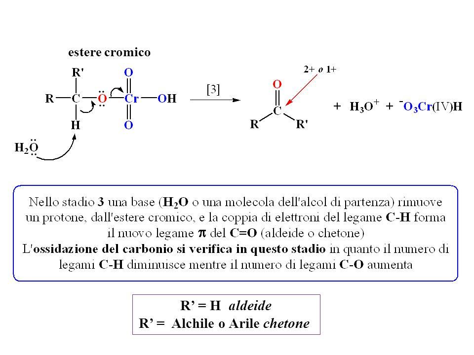 estere cromico R' = H aldeide R' = Alchile o Arile chetone