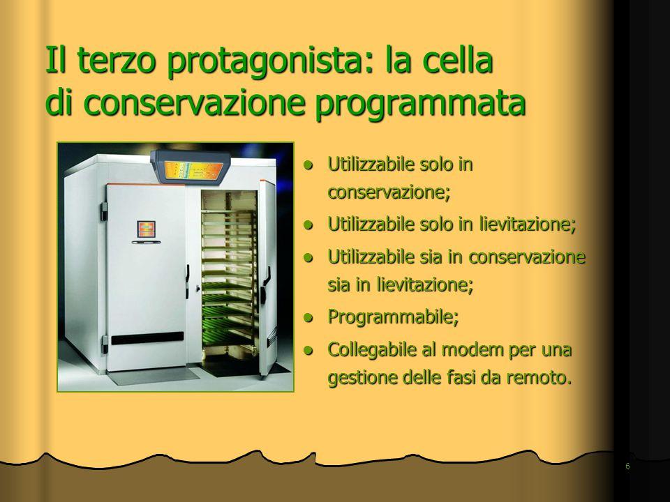 6 Il terzo protagonista: la cella di conservazione programmata Utilizzabile solo in conservazione; Utilizzabile solo in conservazione; Utilizzabile so