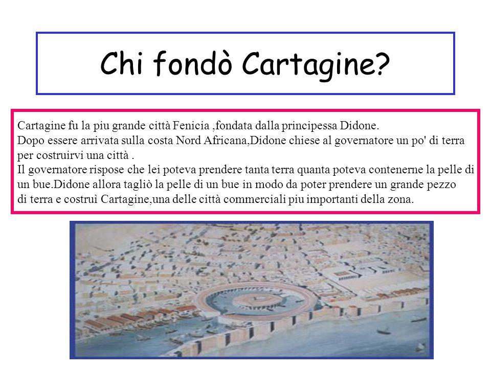 Chi fondò Cartagine.Cartagine fu la piu grande città Fenicia,fondata dalla principessa Didone.