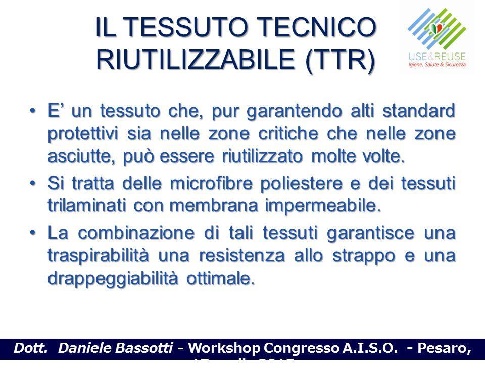 IL TESSUTO TECNICO RIUTILIZZABILE (TTR) E' un tessuto che, pur garantendo alti standard protettivi sia nelle zone critiche che nelle zone asciutte, pu